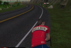 zwift bike and beer